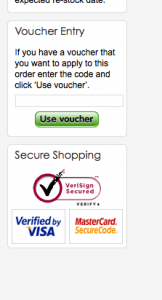 Adding a voucher or coupon code to your Play.com shopping card